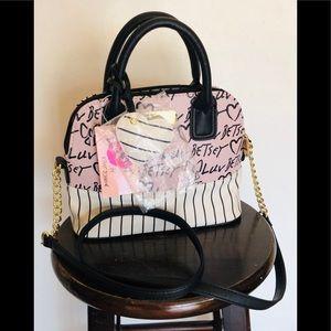 NWT Luv Betsey Johnson pink dome satchel LBDenaa